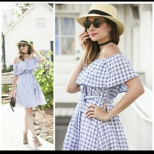 Anthropologie 11•1•Tylho Blue Checkered Dress